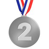 2nd Place Medal Emoji on Apple macOS and iOS iPhones