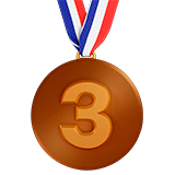 3rd Place Medal Emoji on Apple macOS and iOS iPhones