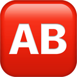AB Button (Blood Type) Emoji on Apple macOS and iOS iPhones