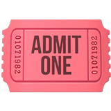Admission Tickets Emoji on Apple macOS and iOS iPhones