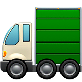 Articulated Lorry Emoji on Apple macOS and iOS iPhones