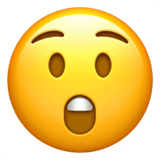 Astonished Face Emoji on Apple macOS and iOS iPhones