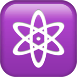 Atom Symbol Emoji on Apple macOS and iOS iPhones