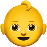 Baby Emoji on Apple macOS and iOS iPhones
