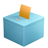 Ballot Box With Ballot Emoji on Apple macOS and iOS iPhones