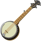 Banjo Emoji on Apple macOS and iOS iPhones