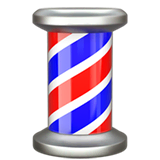 Barber Pole Emoji on Apple macOS and iOS iPhones