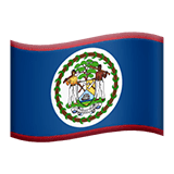 Flag: Belize Emoji on Apple macOS and iOS iPhones