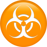 Biohazard Emoji on Apple macOS and iOS iPhones