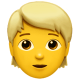 Blond-Haired Person Emoji on Apple macOS and iOS iPhones