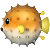Blowfish Emoji on Apple macOS and iOS iPhones
