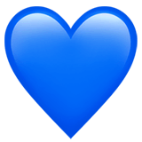 Blue Heart Emoji on Apple macOS and iOS iPhones
