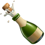 Bottle With Popping Cork Emoji on Apple macOS and iOS iPhones