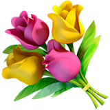 Bouquet Emoji on Apple macOS and iOS iPhones