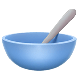 Bowl With Spoon Emoji on Apple macOS and iOS iPhones