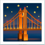 Bridge at Night Emoji on Apple macOS and iOS iPhones