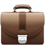 Briefcase Emoji on Apple macOS and iOS iPhones