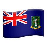 British Virgin Islands Emoji on Apple macOS and iOS iPhones