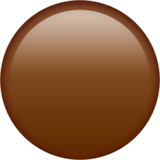 Brown Circle Emoji on Apple macOS and iOS iPhones