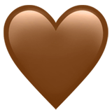 Brown Heart Emoji on Apple macOS and iOS iPhones
