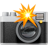 Camera With Flash Emoji on Apple macOS and iOS iPhones