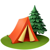 Camping Emoji on Apple macOS and iOS iPhones