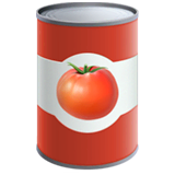 Canned Food Emoji on Apple macOS and iOS iPhones