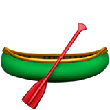 Canoe Emoji on Apple macOS and iOS iPhones