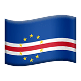 Flag: Cape Verde Emoji on Apple macOS and iOS iPhones
