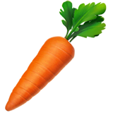 Carrot Emoji on Apple macOS and iOS iPhones