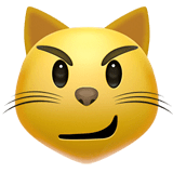 Cat With Wry Smile Emoji on Apple macOS and iOS iPhones