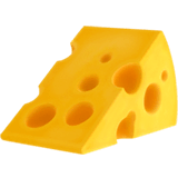 Cheese Wedge Emoji on Apple macOS and iOS iPhones