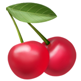 Cherries Emoji on Apple macOS and iOS iPhones