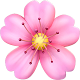 Cherry Blossom Emoji on Apple macOS and iOS iPhones
