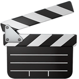 Clapper Board Emoji on Apple macOS and iOS iPhones