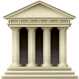 Classical Building Emoji on Apple macOS and iOS iPhones