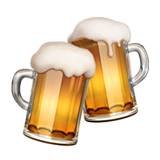 Clinking Beer Mugs Emoji on Apple macOS and iOS iPhones