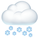 Cloud With Snow Emoji on Apple macOS and iOS iPhones