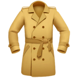 Coat Emoji on Apple macOS and iOS iPhones
