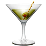 Cocktail Glass Emoji on Apple macOS and iOS iPhones
