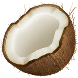 Coconut Emoji on Apple macOS and iOS iPhones