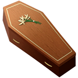 Coffin Emoji on Apple macOS and iOS iPhones