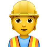 Construction Worker Emoji on Apple macOS and iOS iPhones