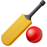 Cricket Game Emoji on Apple macOS and iOS iPhones