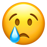 Crying Face Emoji on Apple macOS and iOS iPhones