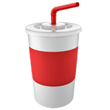Cup With Straw Emoji on Apple macOS and iOS iPhones