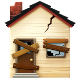 Derelict House Emoji on Apple macOS and iOS iPhones