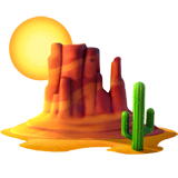 Desert Emoji on Apple macOS and iOS iPhones