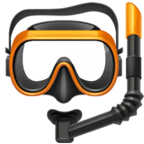 Diving Mask Emoji on Apple macOS and iOS iPhones