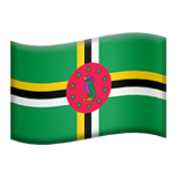 Flag: Dominica Emoji on Apple macOS and iOS iPhones